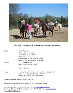 fin de semana a caballo