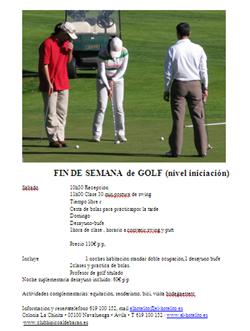 fin de semana con golf